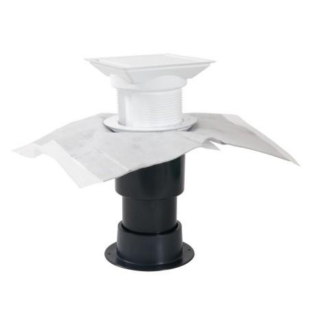 Слив для отвода воды с балкона светло-серый ABE80