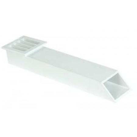 Балконный канал белый GARВ